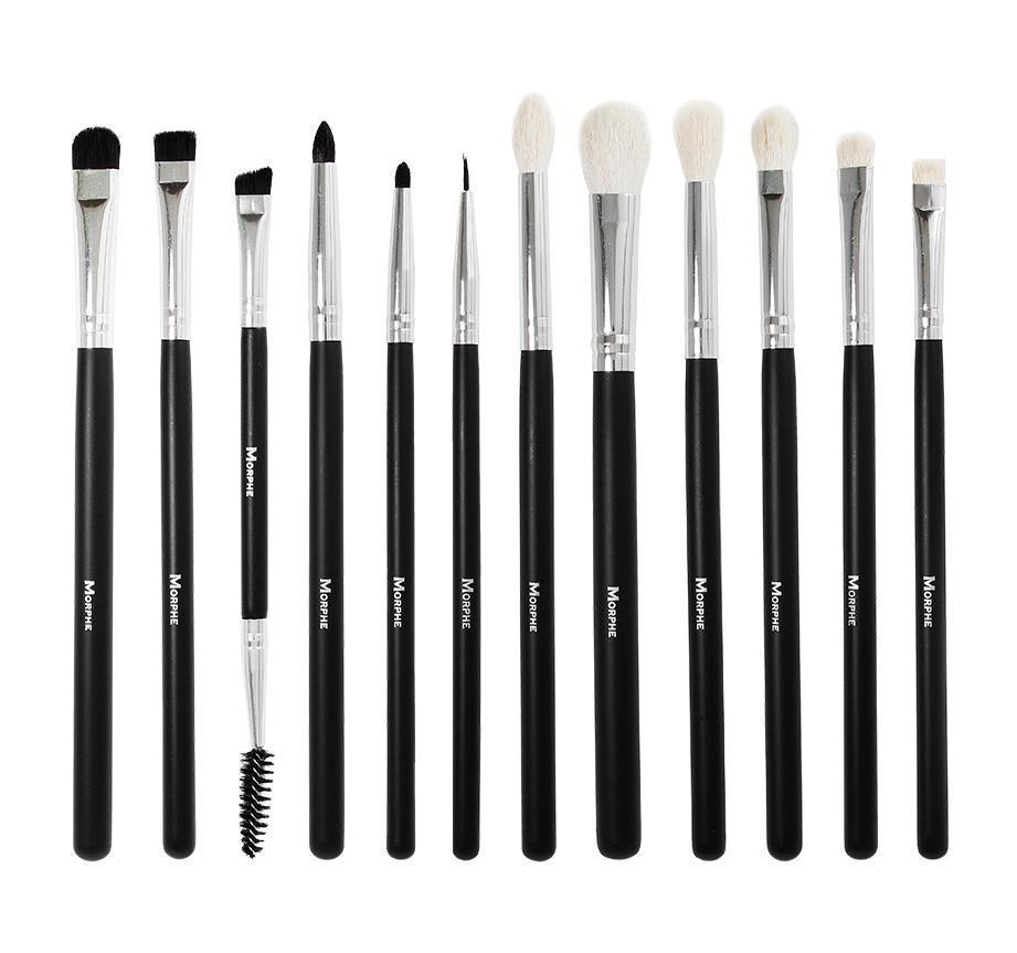 Morphe Eye Brush Set His final callout from the set (which comes in a black storage case that caps easily. eye brow lash brush sets wenonahulsey com